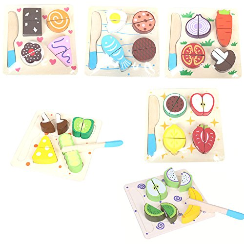 (1 Pcs.)Kid Early educational toys hand grasp wooden puzzle toy fruit and vegetable learning education child wood jigsaw toy