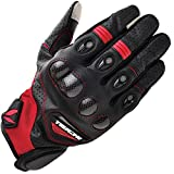 RSタイチ(RSTAICHI) RST417 ベロシティ レザーメッシュ グローブ [ BLACK/RED ] M