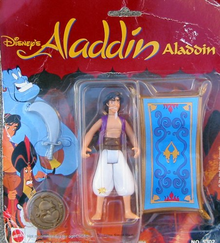 Picture of Mattel Disney Aladdin Figure with Sword, Flying Carpet and Genie Coin (B0041INT9Q) (Mattel Action Figures)