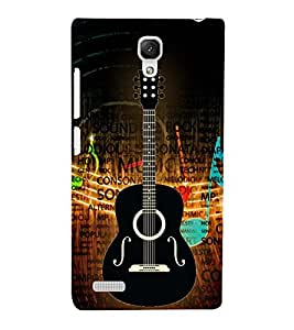 Music is Gitar Songs 3D Hard Polycarbonate Designer Back Case Cover for Xiaomi Redmi Note Prime :: Xiaomi Redmi Note 4G Prime