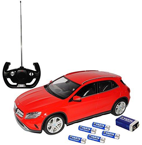 Riesig-Mercedes-Benz-GLA-X156-Rot-Ab-2013-RC-Funkauto-mit-Beleuchtung-inklusive-Batterien-sofort-startklar-114-Rastar-Modell-Auto