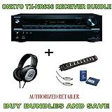 Onkyo TX-NR636 7.2-Channel A/V Receiver, Sennheiser HD201 Headphones Plus Monster Surge Protector HDMI Bundle by Onkyo