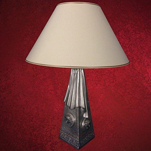 Medusa Mäander Lampe Stehlampe Vasenlampe Stehleuchte Silber