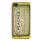 Vintage Condom Tin Peaches iPhone 4 4S Hard Case Back Cover D-036