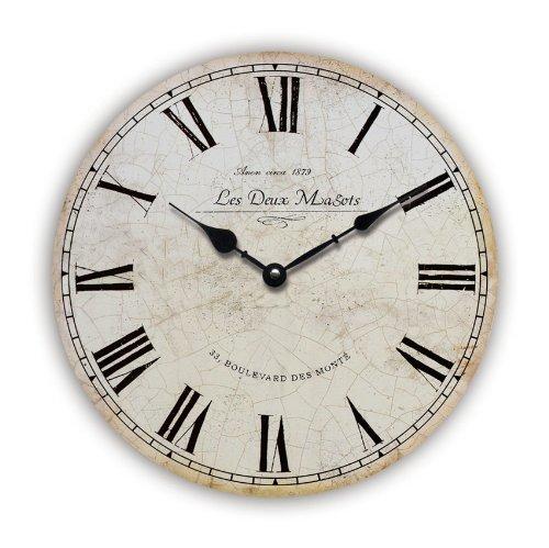 Horloge moderne cuisine grande horloge murale cuisine deco pile poele for Pendule contemporaine