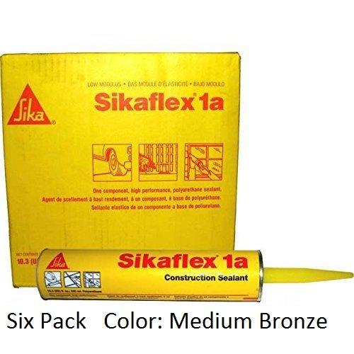sika-sikaflex-1a-one-part-polyurethane-caulk-sealant-adhesive-103-fl-oz-color-medium-bronze-six-pack