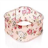 Floral Print Acrylic Square Fashion Bangle Pink