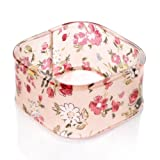 Floral Print Acrylic Square Fashion Bangle Pink