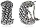 Sterling Silver Italian Rhodium Plated Mesh Earrings