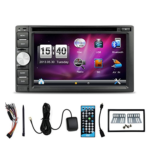Navigation-Seller-Best-Gift-Din-Car-DVD-Player-62-In-With-Touch-Screen-Universal-GPS-Rodio-Video-Bluetooth-Remote-Control-Rear-Camera-Free-Map