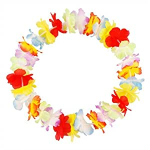 10 Hawaiian Tropical Party Flower Lei Leis Neck Garland