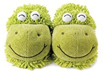 Fuzzy Slipper Gift Shop - Aromahome Fuzzy Feet Slippers Frog :  aromahome frog gift shop