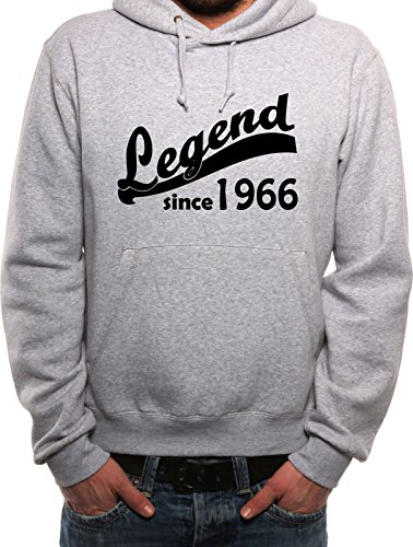 Mister Merchandise Uomo Felpa con Cappuccio Hoodie Legend since 1966 49 50 , Men Taille: XL, Color: Grigio