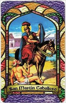 San Martin Caballero * Bilingual Prayer Card With Vinyl Sleeve