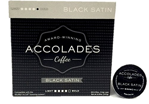 Black Satin, Single Serve Coffee, Dark Roast, Compatible With Most Brewers Including Keurig (18Ct)