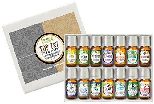 7) Blends and 7) Top Single Oils 100% Pure Therapeutic Grade Essential Oils- 14 bottles of 10 ml of Hope, Stress Relief, Zen (Compare to Eden's Garden Calming) , Stay Alert, Cleanse (Compare to Eden's Garden Purification), Meditation, Health Shield (Compa