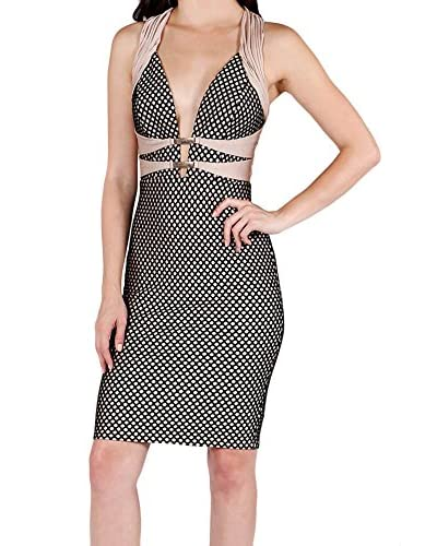 Wow Couture Women's Geo Print Bandage Dress