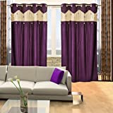 Home Candy Designer Purple Set of 2 Door Curtains- 7 ft
