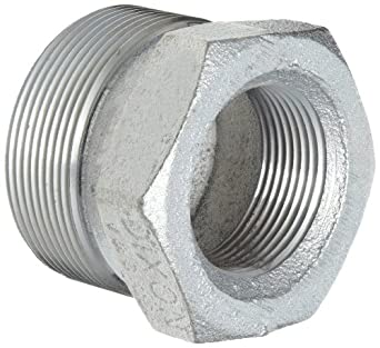 Dixon Boss GB Series Plated Iron Hose Fitting, Spud for GJ Boss Ground Joint Seal, NPT Female