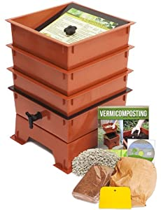 Worm Factory DS3TT 3-Tray Worm Composter, Terra Cotta