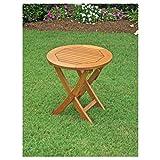 Balau Wood Folding Patio Side Table