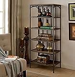 Furniture of America Celeste 5-Shelf Display Case