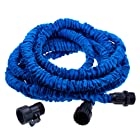 FLEXIBLE EXPANDABLE EXPANDING GARDEN & LAWN WATER HOSE 50 FT FEET BLUE