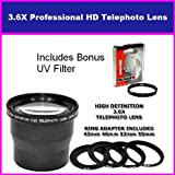 58mm 3.5X HD Professional Telephoto lens For Fuji Finepix Fujifilm FinePix hs10 S9500 S9100 S9000 S6000 S3 S2 S1 Includes Bonus 72MM Protective UV Filter