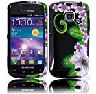 Samsung illusion I110 Samsung Galaxy Proclaim S720C Design Cover - Green Flower