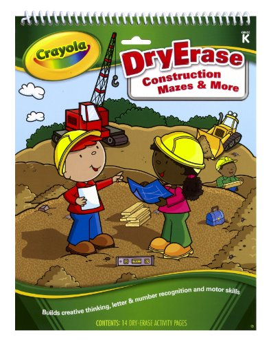 Crayola Dry Erase Activity Tablet Construction Mazes And More