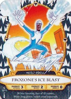 Sorcerers Mask of the Magic Kingdom Game, Walt Disney World - Card #28 - Frozone's Ice Blast