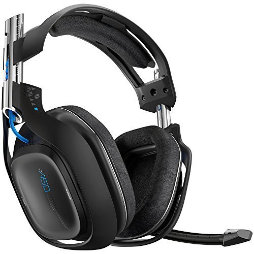 Astro Gaming A50 Headset for PS4 and PC Black Blue (Certified Refurbished) (Color: Black )