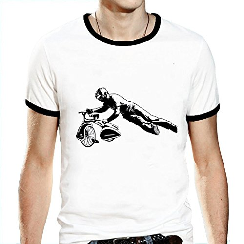 Men's Short Sleeve Tricycle Stunt Shirts Size Small