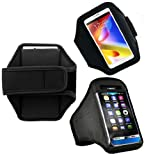 Wayzon Black Adjustable Sports GYM Jogging Running Riding Bike Cycling Armband Case Cover Skin Pouch Holster For Samsung I9070 Galaxy S Advance