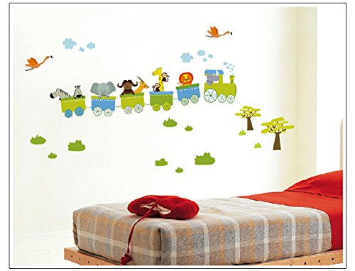 Apexshell (Tm) Cartoon Style Animals Train Removable High Quality Diy Decorate Wall Decal Sticker Decor For Kids, Home, Nursery Room, For Children'S Bedroom front-321729