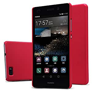 Huawei P8 lite case, KuGi ® High quality ultra-thin PC Hard Case Cover for Huawei P8 lite smartphone. (Red)