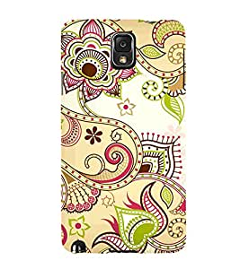 Indian Ranogli Pattern Art Cute Fashion 3D Hard Polycarbonate Designer Back Case Cover for Samsung Galaxy Note 3 :: Samsung Galaxy Note III :: Samsung Galaxy Note 3 N9002 :: Samsung Galaxy Note N9000 N9005