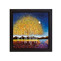 Evening Stream by Melissa Graves-Brown Premium Gallery-Wrapped Canvas Giclee with Black Floater Framing (Ready-to-Hang)