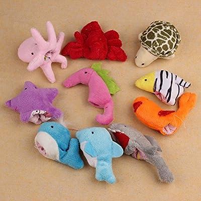 ZPS(TM) 10Pcs Ocean Soft Animal Puppet Baby Girl Boy Finger Toys Plush Toy from ZPS