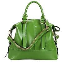 Fineplus Women's Leather Handbag Soft Shoulder Bag White