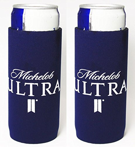 Michelob Ultra Slim Can Licensed Beer Coolie Holder Huggie 2-Pack (Beer Can Coozie compare prices)
