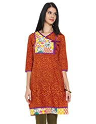 KARIGARI Ladies Cotton Printed KURTA - B00OBH4WJS