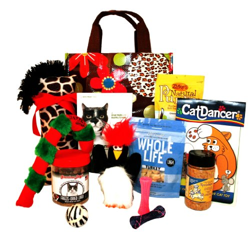 Big Cat Christmas Gift Basket Featuring the Yeowww!