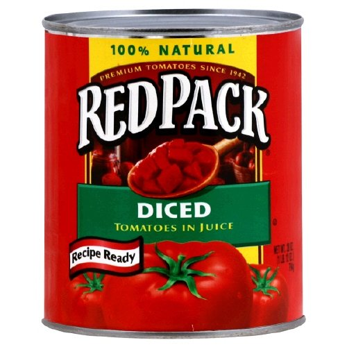 Red Pack Diced Tomatoes, In Juice 28 Oz (Pack Of 8)