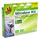 Duck Brand 281504 Indoor 5-Window Shrink Film Kit, 62-by-210-Inch