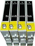 4 Black Compatible Ink Cartridges