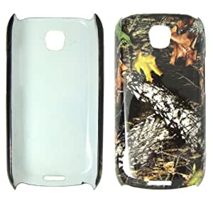 Samsung Apallo i5800 Galaxy 3 - Camo Camouflage Leaves and Branch Plastic Case, SnapOn, Protector, Cover + Screen Protector