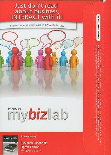 MyBizLab -- Access Card -- for Business Essentials (8th Edition)