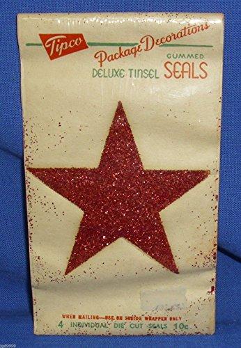vintage-tipco-gummed-red-glitter-star-seals-package-of-4-craft-decor-gift-wrap-supplyjgd9999