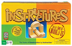 POOF-Slinky 0X3823 Ideal Instructures Wooden Block Construction Game
